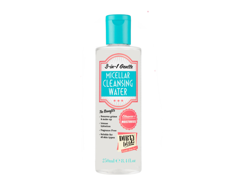 Dirty Works 3-in-1 Gentle Micellar Cleansing Water, 8.4 fl oz