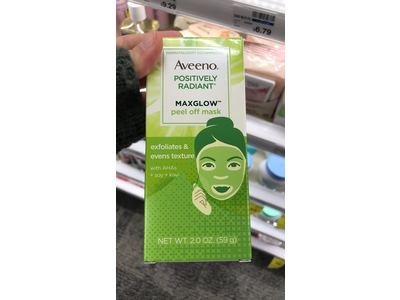 AVEENO Positively Radiant MaxGlow Peel Off Exfoliating Face Mask 2 oz - Image 11