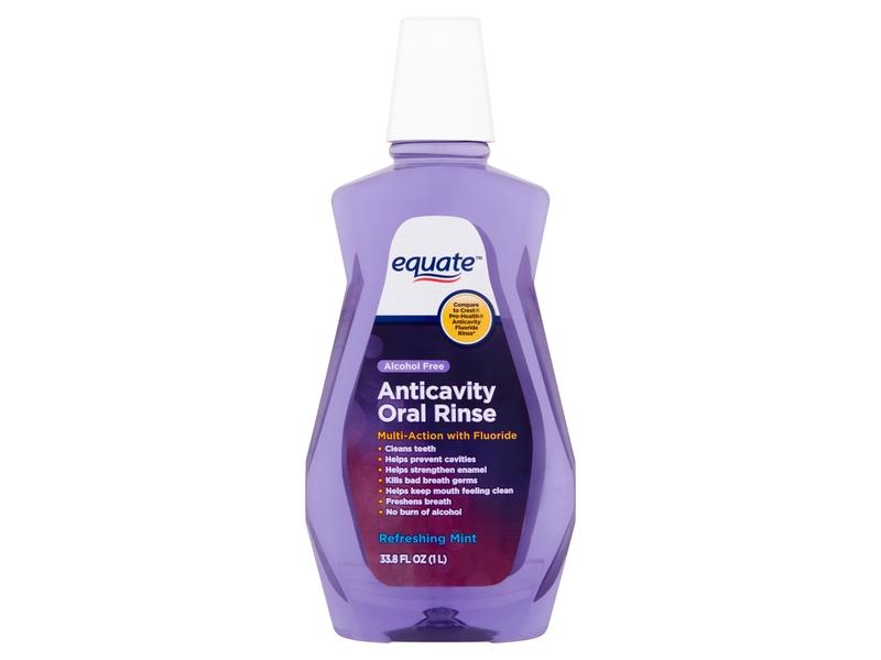 Equate Anticavity Oral Rinse, Refreshing Mint, 33.8 fl oz/1 L