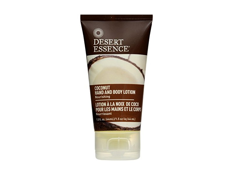 Desert Essence Hand & Body Lotion, Coconut, 1.5 oz