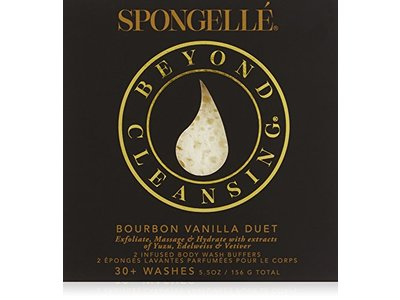 Spongelle Boxed Duo Bath Mitts and Cloths, Bourbon Vanilla, 5.5 oz