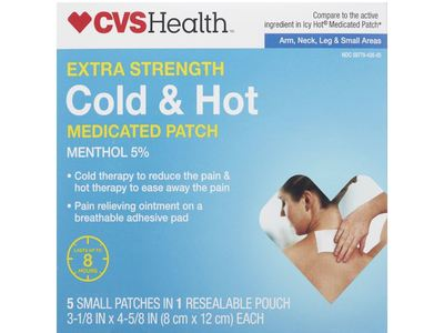 CVS Health Extra Strength Cold & Hot Medicated Patch, Small, 5 ct