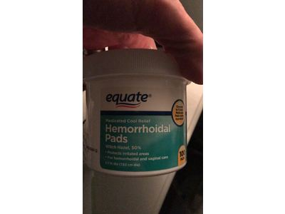 Equate Hygienic Cleansing Pads, Hemorrhoidal Vaginal Medicated Pads, 100 Pads - Image 3