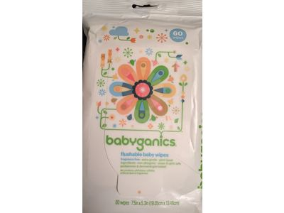 BabyGanics Flushable Wipes, Thick N Kleen, 60 Count - Image 9
