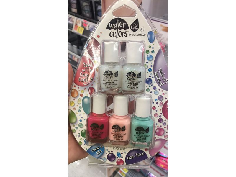 Color Club Water Colors Water-Based Nail Color + Water-Based Top ...