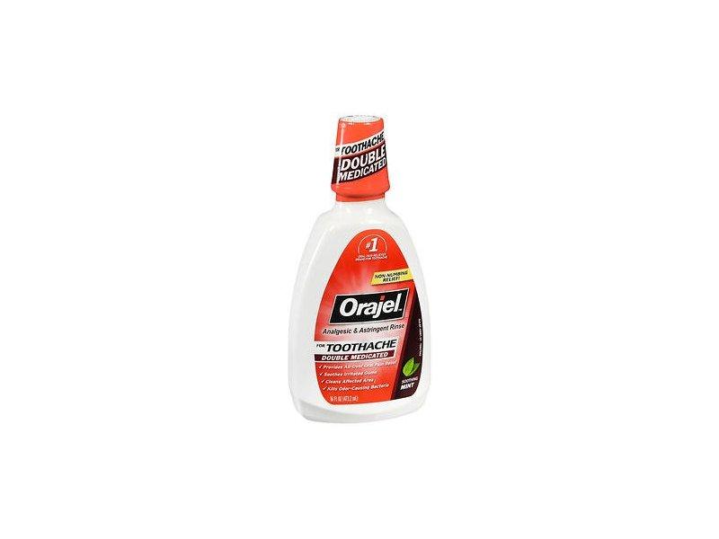 Orajel Analgesic & Astringent Rinse, Soothing Mint, 16 fl oz (Pack of 6)