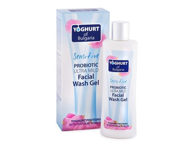 Yoghurt of Bulgaria Sensitive Probiotic Ultra Mild Facial Wash Gel, 7.77 oz/230 mL