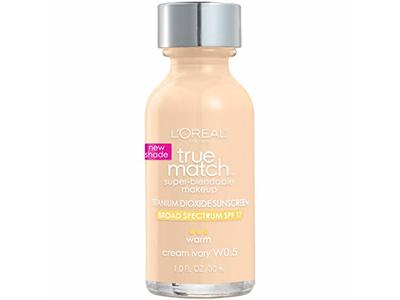 L'Oreal Paris Makeup True Match Super-Blendable Liquid Foundation, Cream Ivory W0.5, 1 fl. oz.