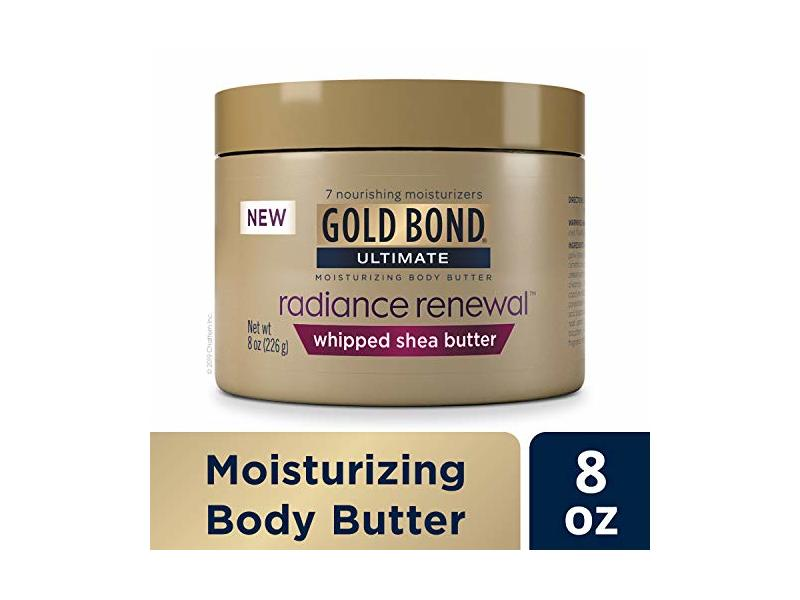 Gold Bond Ultimate Radiance Renewal Cream, Whipped Shea Butter, 8 oz