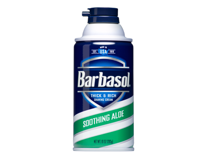 Barbasol Soothing Aloe Thick and Rich Shaving Cream, 6 oz