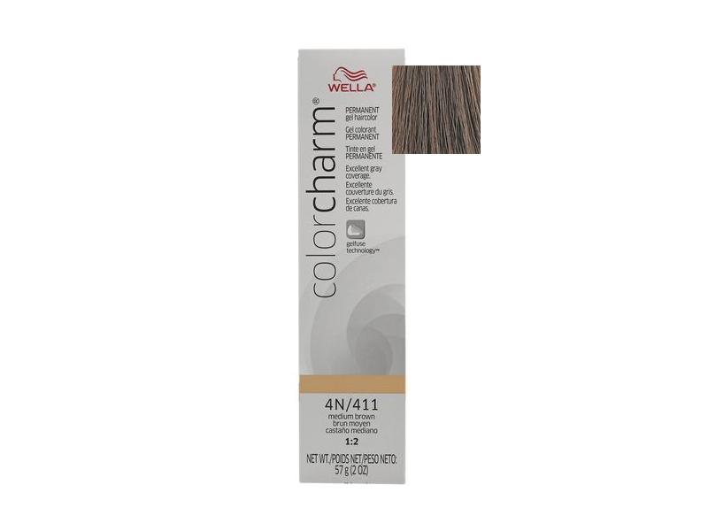 Wella Color Charm Permanent Gel Hair Color Medium Brown 2 Oz