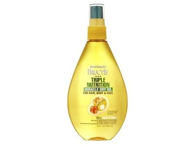 Garnier Fructis Triple Nutrition Miracle Dry Oil, 5oz