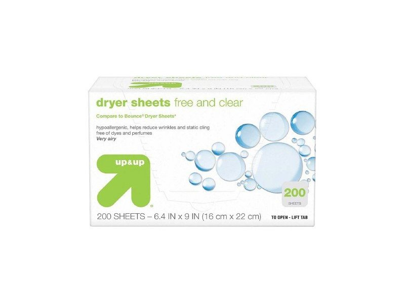up & up Dryer Sheets, Free & Clear, 200 ct Ingredients and ...