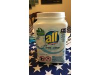 All Mighty Pacs Laundry Detergent, Free Clear for Sensitive Skin, Tub, 60 Count - Image 3