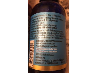 Pura d'or Organic Argan Oil for Skin, Scalp & Hair, 4 fl. oz. - Image 4