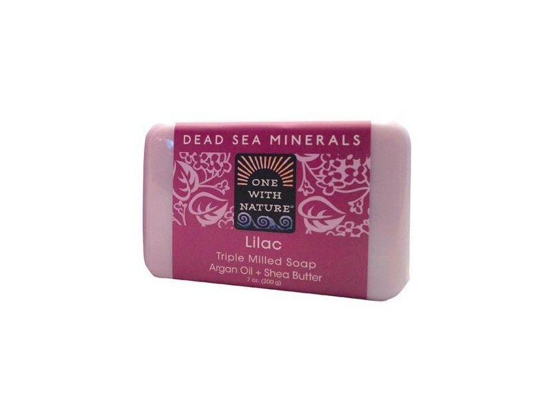 One With Nature Soap Bar Lilac, 7 oz