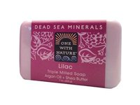 One With Nature Soap Bar Lilac, 7 oz - Image 2