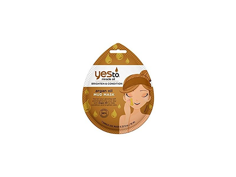 Yes To Miracle Oil Brighten & Condition Mud Mask, Argan, 0.33 fl oz