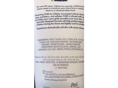 Gillette PURE Shaving Cream for Men, 6 oz - Image 4