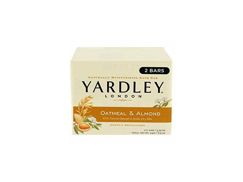 Yardley London Oatmeal & Almond Moisturizing Bath Bar, 4.25 oz