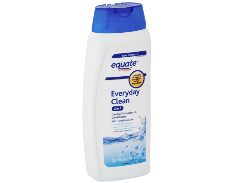 Equate 2-in-1 Dandruff Shampoo & Conditioner, Everyday Clean, 23.7 fl oz, Pack Of 6