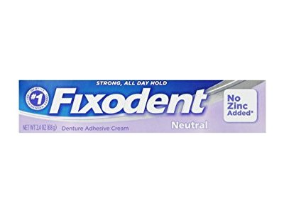 Fixodent Denture Adhesive Cream, Neutral, 2.4 oz - Image 1