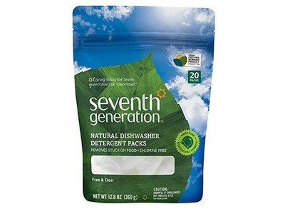 Seventh Generation Natural Dishwasher Detergent Packs, FREE & CLEAR, 20 packs
