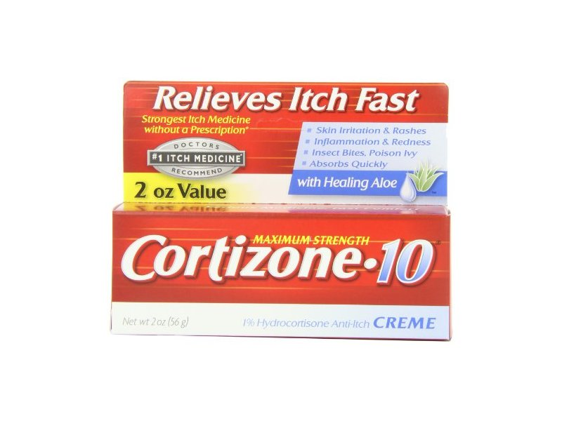 Cortizone-10 Maximum Strength 1% Hydrocortisone Anti-Itch Creme with Aloe, 2 oz