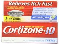 Cortizone-10 Maximum Strength 1% Hydrocortisone Anti-Itch Creme with Aloe, 2 oz - Image 2