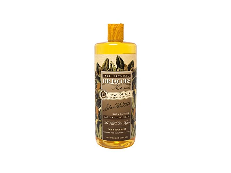 DR.JACOBS NATURALS Face and Body Wash Shea Butter, 32 oz.