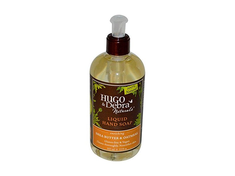 Hugo & Debra Naturals Liquid Hand Soap, Shea Butter and Oatmeal, 12 oz.