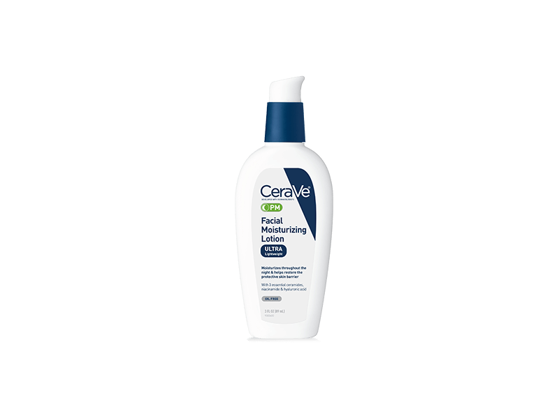 CeraVe PM Facial Moisturizing Lotion,Lightweight & Oil-Free
