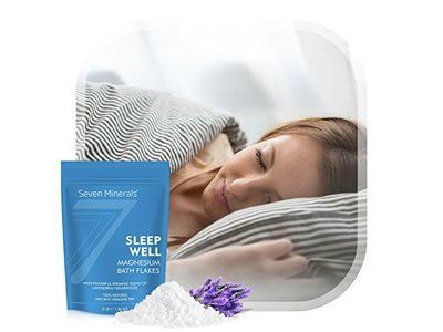 Seven Minerals Sleep Well Magnesium Chloride Flakes 3lb With Organic Cedarwood & Lavender - Image 6
