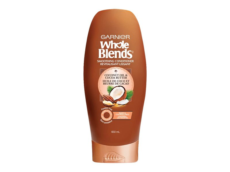 Garnier Whole Blends Smoothing Conditioner, Coconut Oil & Cocoa Butter, 22 fl oz/650 mL