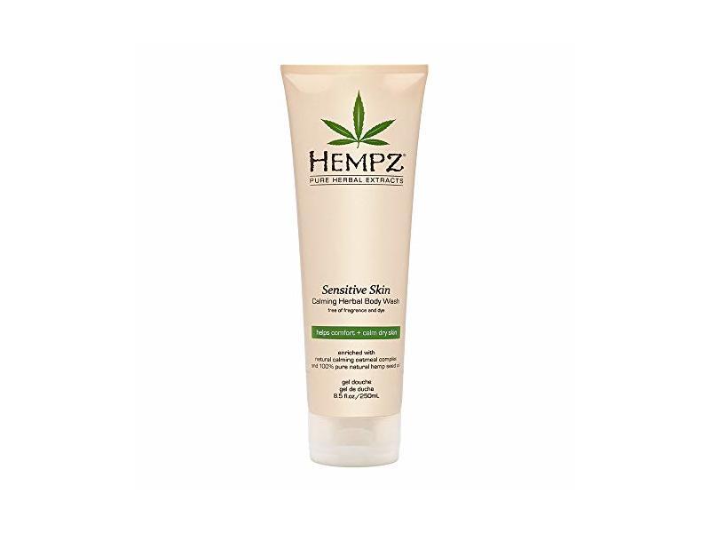 Hempz Sensitive Skin Herbal Body Wash, Off White, 8.5 Fluid Ounce