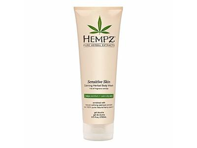 Hempz Sensitive Skin Herbal Body Wash, Off White, 8.5 Fluid Ounce