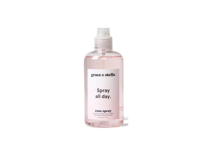 Grace & Stella Spray All Day Rose Spray Hydrating Facial Spray, 8.11 fl oz