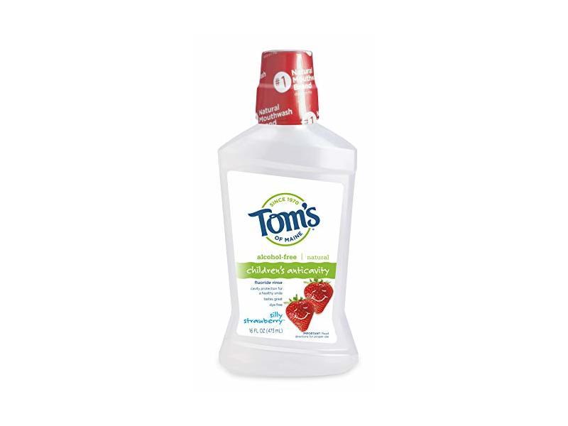 Tom's of Maine Children's Alcohol-Free Anticavity Fluoride Rinse, Silly Strawberry, 16 fl oz