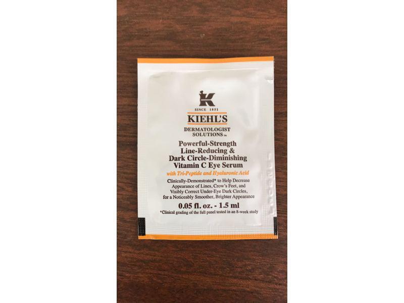Kiehl's Powerful-Strength Line-Reducing & Dark Circle Diminishing Vitamin C Eye Cream, Sample Size