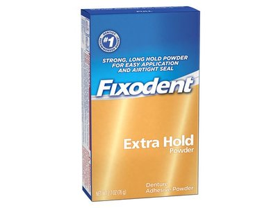 Fixodent Denture Adhesive Powder, Extra Hold, 2.70 oz