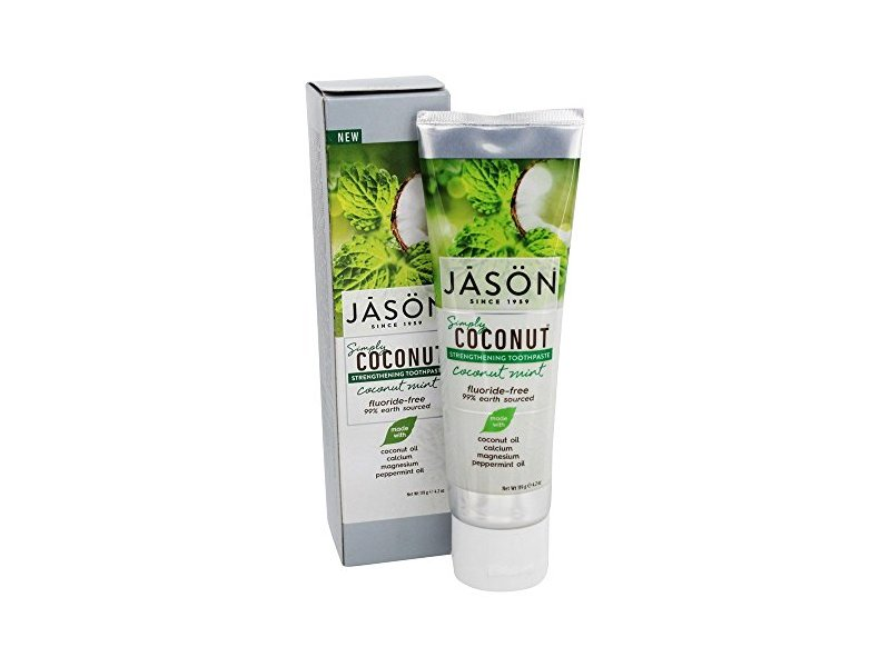 JASON Natural Products Simply Coconut Strengthening Toothpaste, Coconut Mint, 4.2 oz.