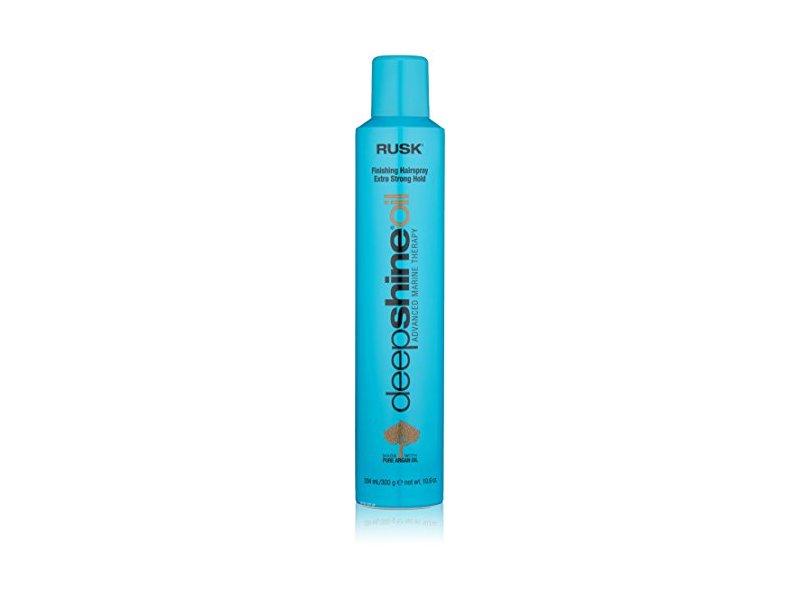 RUSK Deepshine Oil Finishing Extra Strong Hold Hairspray, 10.6 fl. oz.
