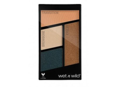 Wet 'N Wild Color Icon Eyeshadow Quad, Hooked On Vinyl 343B, 0.16 oz - Image 1