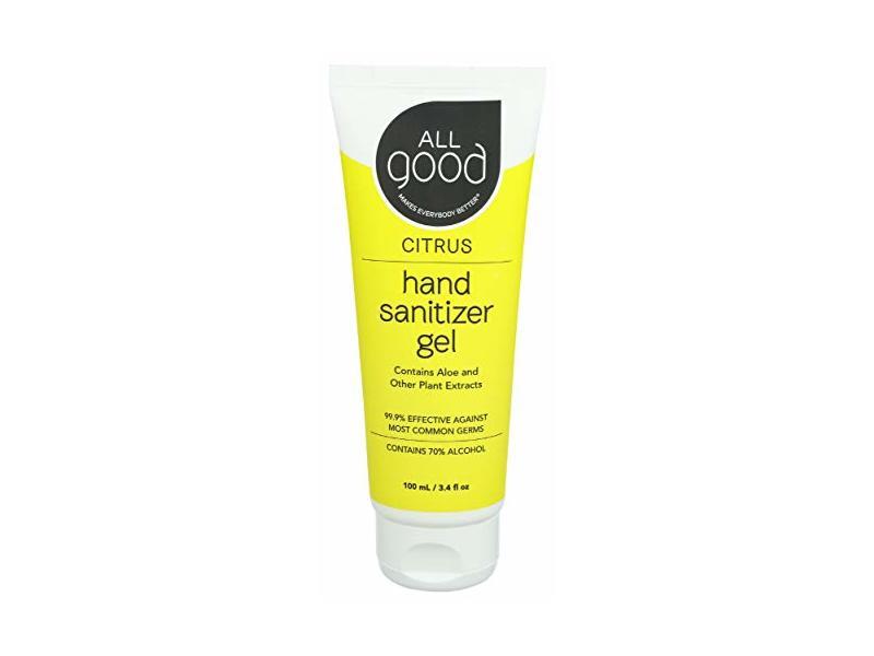 All Good Hand Santizer Gel Citrus, 3.4 fl oz/100 mL