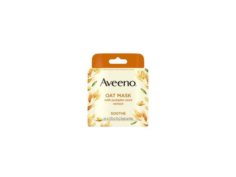 Aveeno Single Use Oat Soothing Face Mask, Pumpkin Seed Extract