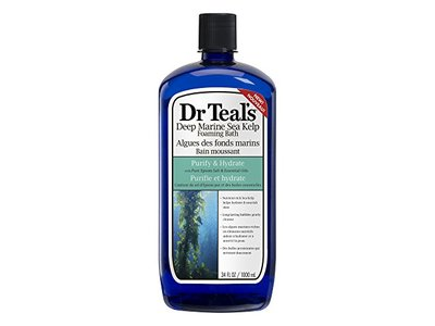 Dr. Teal's Sea Kelp Foaming Bath with Epsom Salt, Purify & Hydrate, 34 oz