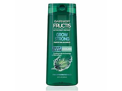 Garnier Fructis Grow Strong Cooling Deep Clean Shampoo Invigorated Hair, 22 fl oz