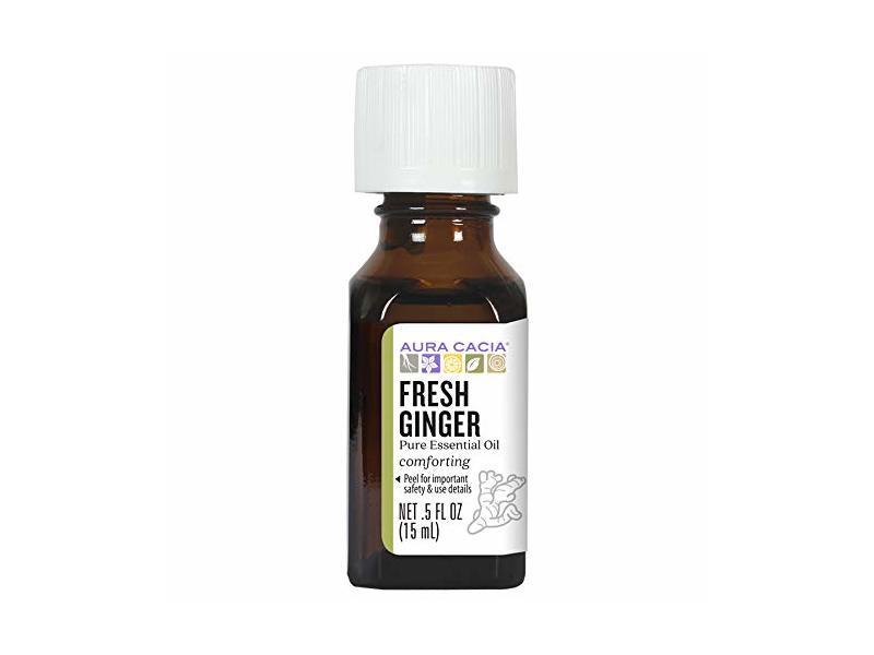 Aura Cacia Fresh Ginger Essential Oil, 15ml