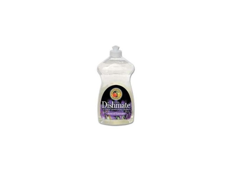 Earth Friendly Ultra Dishmate A Liquid Dishwashing Cleaner, Natural Lavender, 25 Ounce