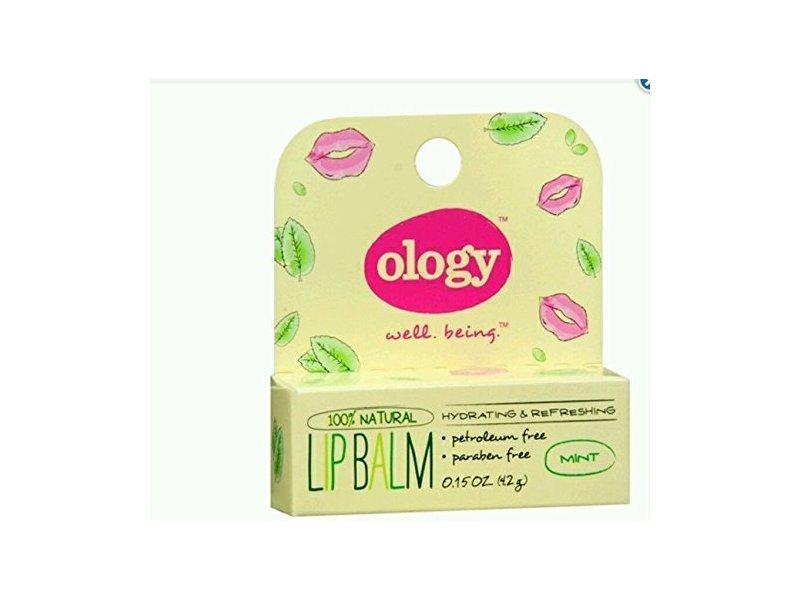Ology 100% Natural Lip Balm, Mint, Hydrating & Refreshing, 0.15 oz
